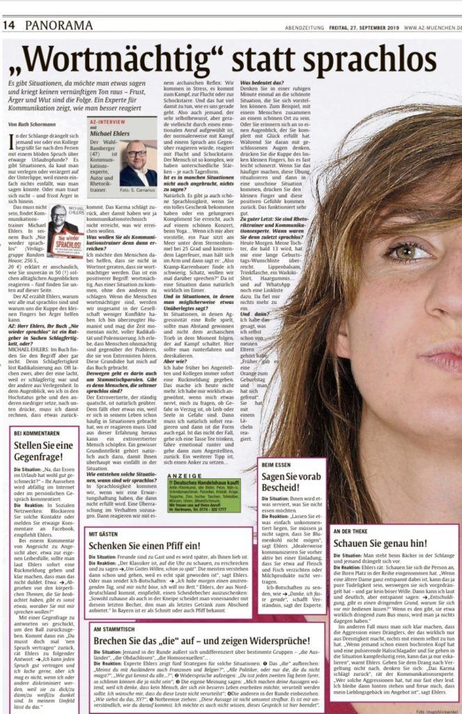 Michael Ehlers in der Münchner Abendzeitung