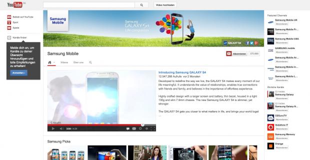 Beispiel Samsung Spalten