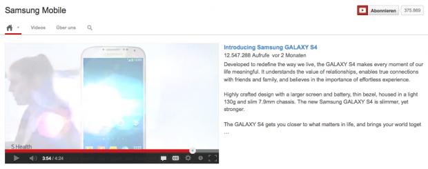 Beispiel Samsung Trailer