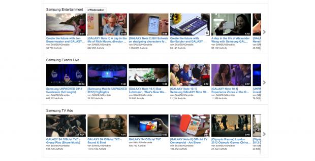 Beispiel Samsung Video Anordnung