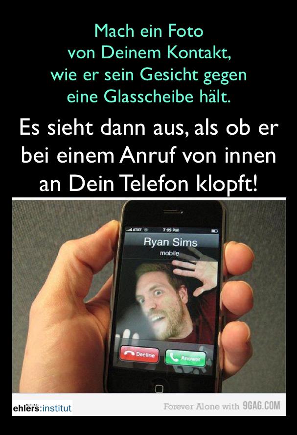 Anklopfen von Innen am Telefon (iPhone)
