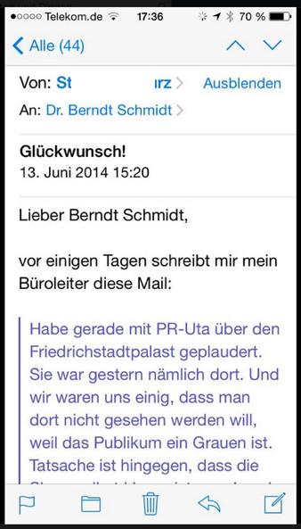 Mail an Dr. Schmidt - Friedrichstadtpalast