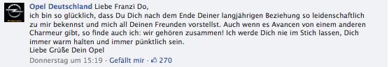 Opel Deutschland Reaktion