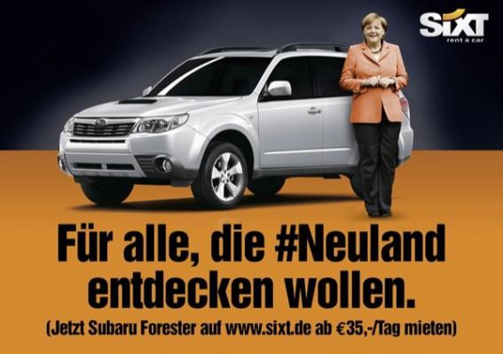 Sixt Angela Merkel Neuland