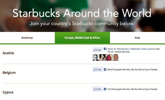 Starbucks Sprachen