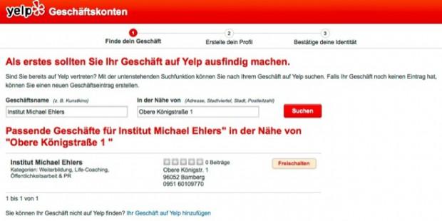 Yelp Profil